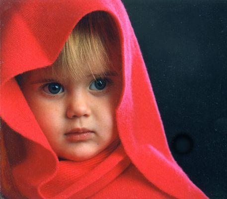girl inn red