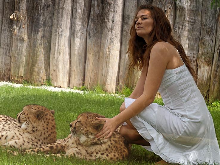 Girl mit Gepard