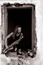 Girl mit Sax