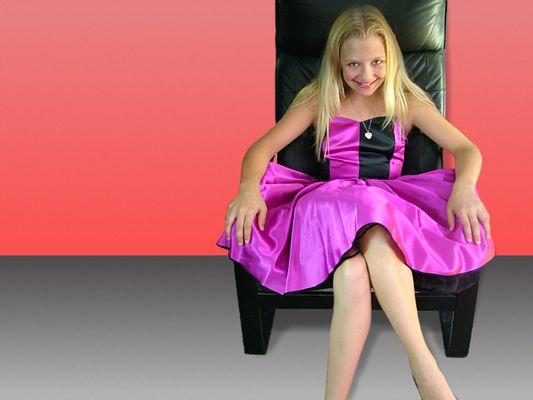 Girl on chair...