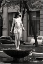 Girl on the fountain