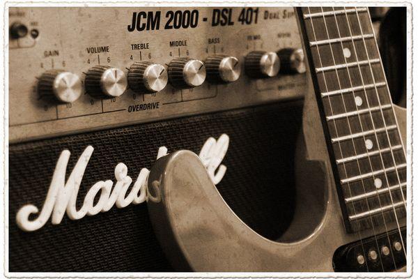 Gitarre & Amp *vintage style*