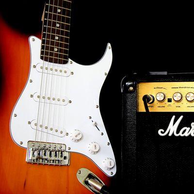 Gitarre und Amp