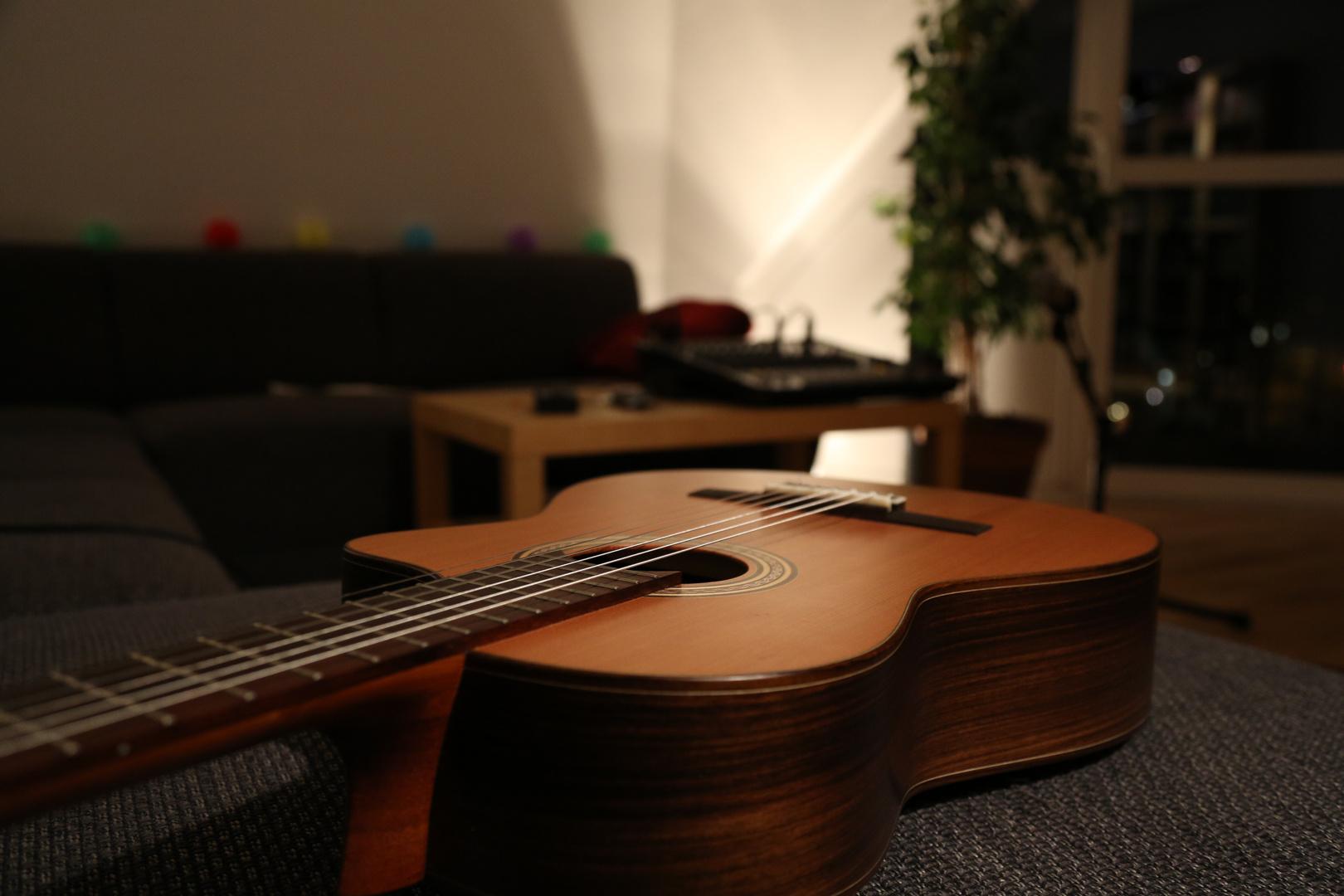 Gitarre und Aufnahme