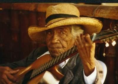 Gitarrenspieler Cusco/Peru