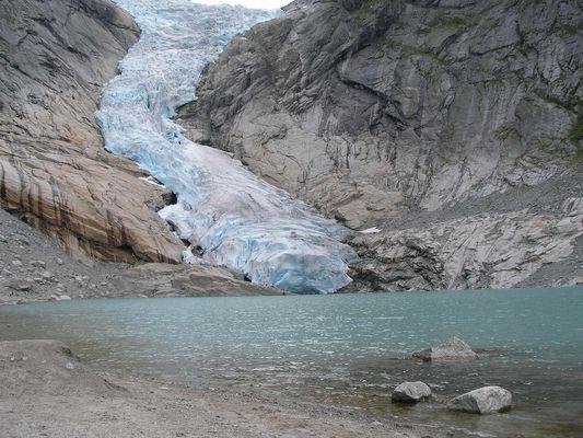 glacier de Briksdal (NORVEGE)