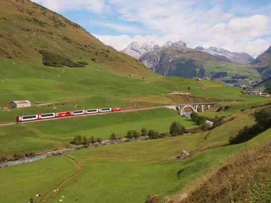 Glacier Express à Hospental