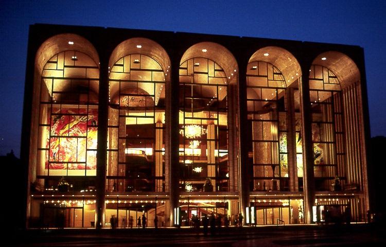 Gläserne Architektur, die Metropolitan Opera