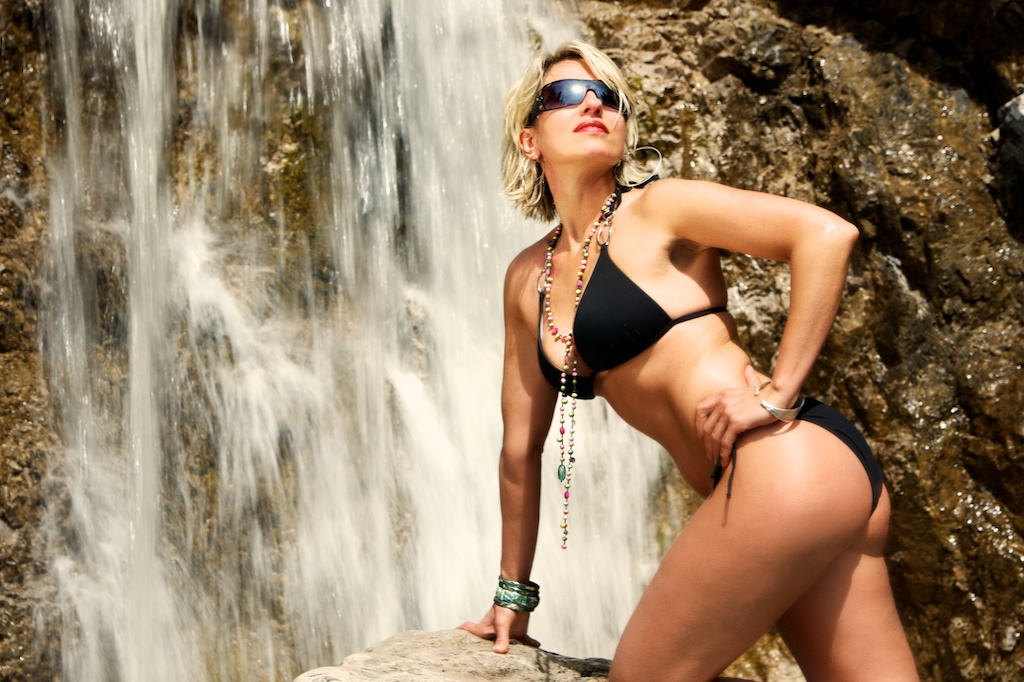 Glamour am Wasserfall