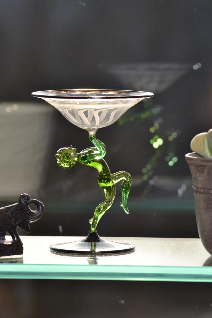 Glas auf glas