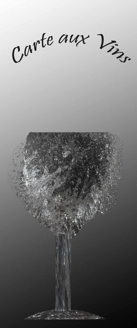 Glas aus Wasser