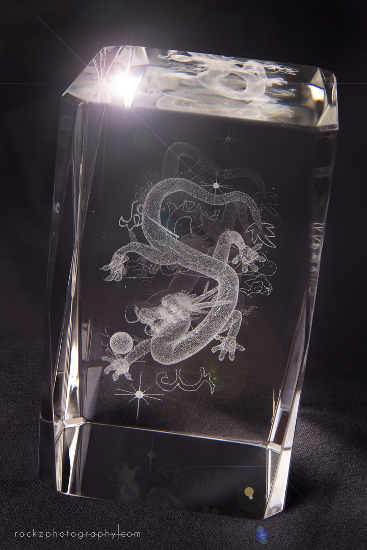 Glas mit Gravur