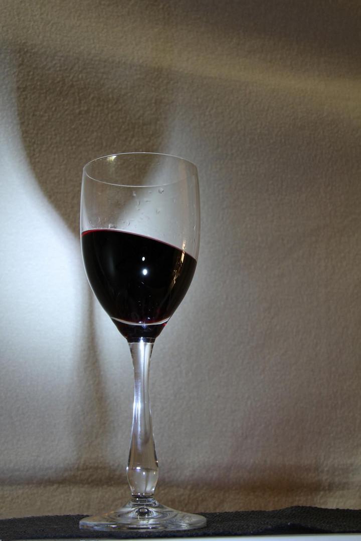 Glas mit Wein