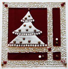 """Glasbild """"Weihnachten in Rot"""""""