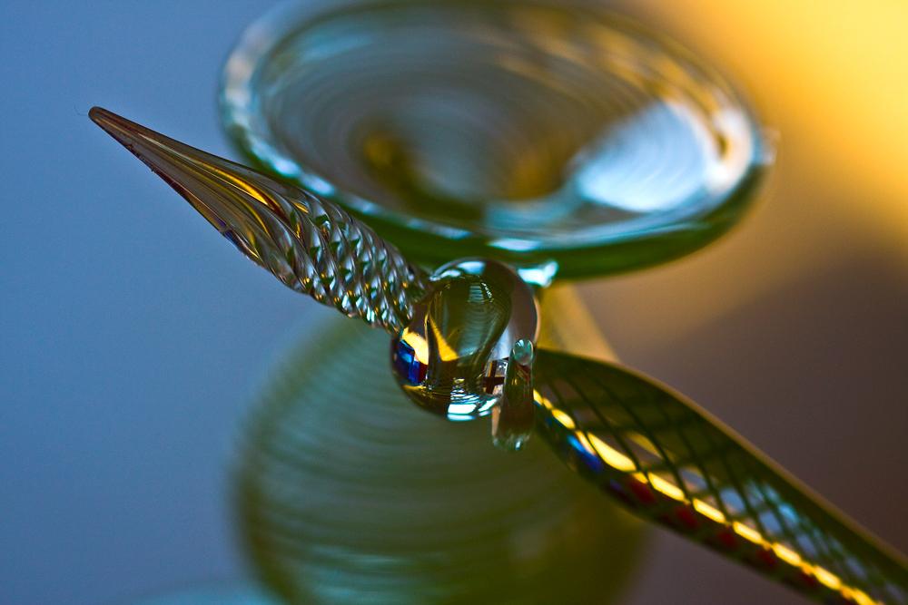 Glasfeder