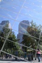 Glasfront der 9/11 Memorial Museums