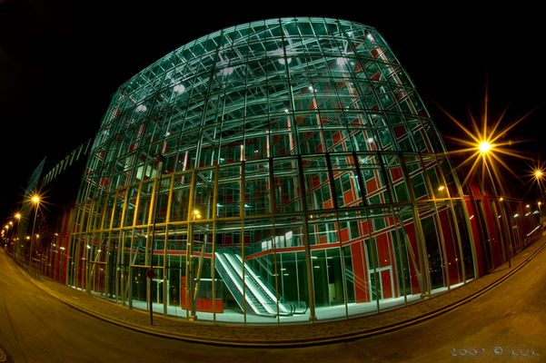 Glashaus in Rot