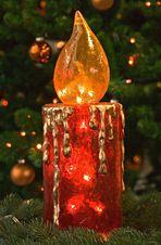 Glaskerze zum 4. Advent