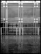 glass and rain reflect