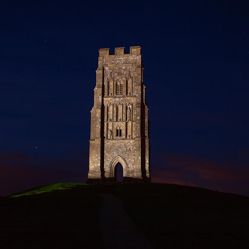 Glastonbury Tor -lightpainted-
