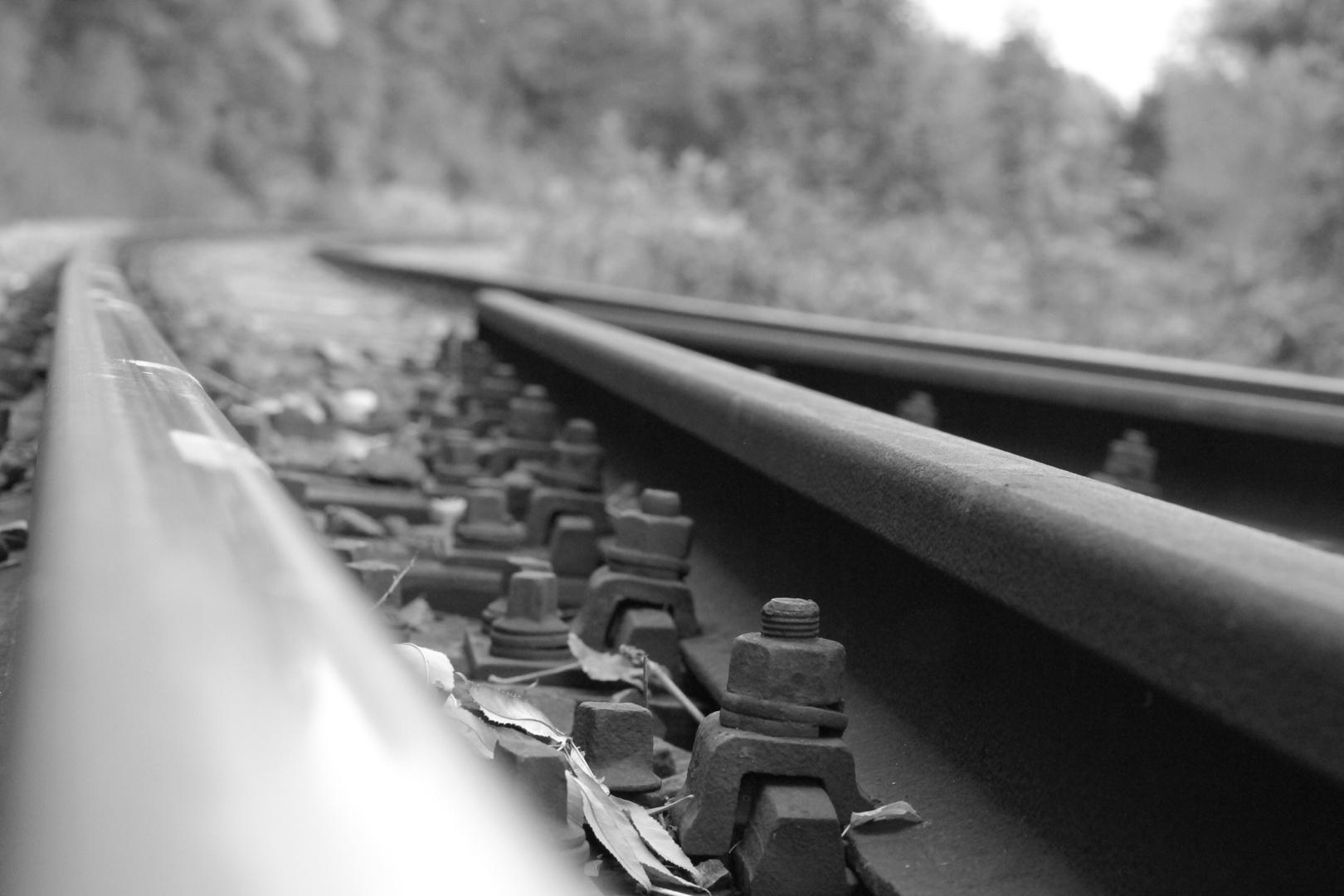 Gleis aus einer anderen Perspektive