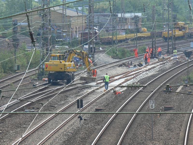 Gleisbau in Essen-West