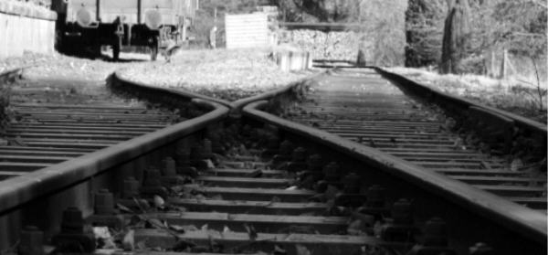 Gleise groß und scharf