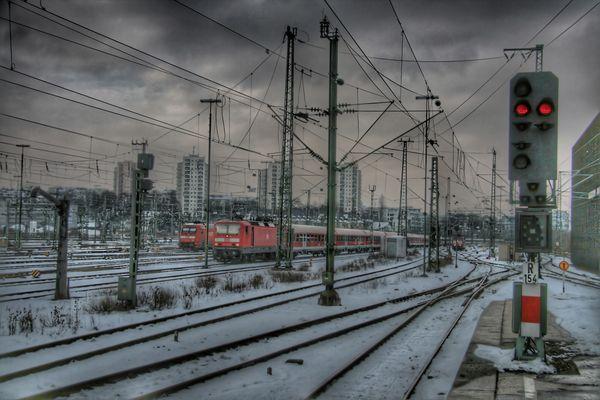 Gleisvorfeld Stuttgart Hbf, HDR, TM II