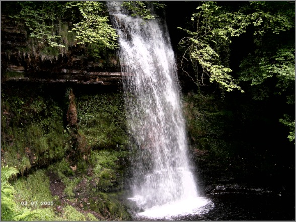 Glencam Waterfall, Co. Leitrim, Irland