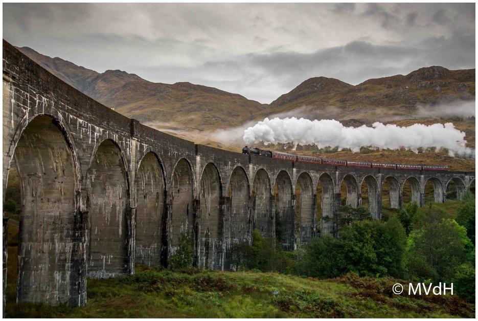 Glenfinnan Viadukt, die Harry-Potter-Brücke