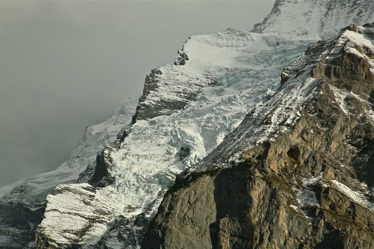 Gletscher an der Jungfrau