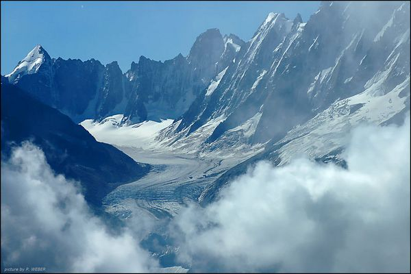 Gletscher im Mont Blanc Massiv