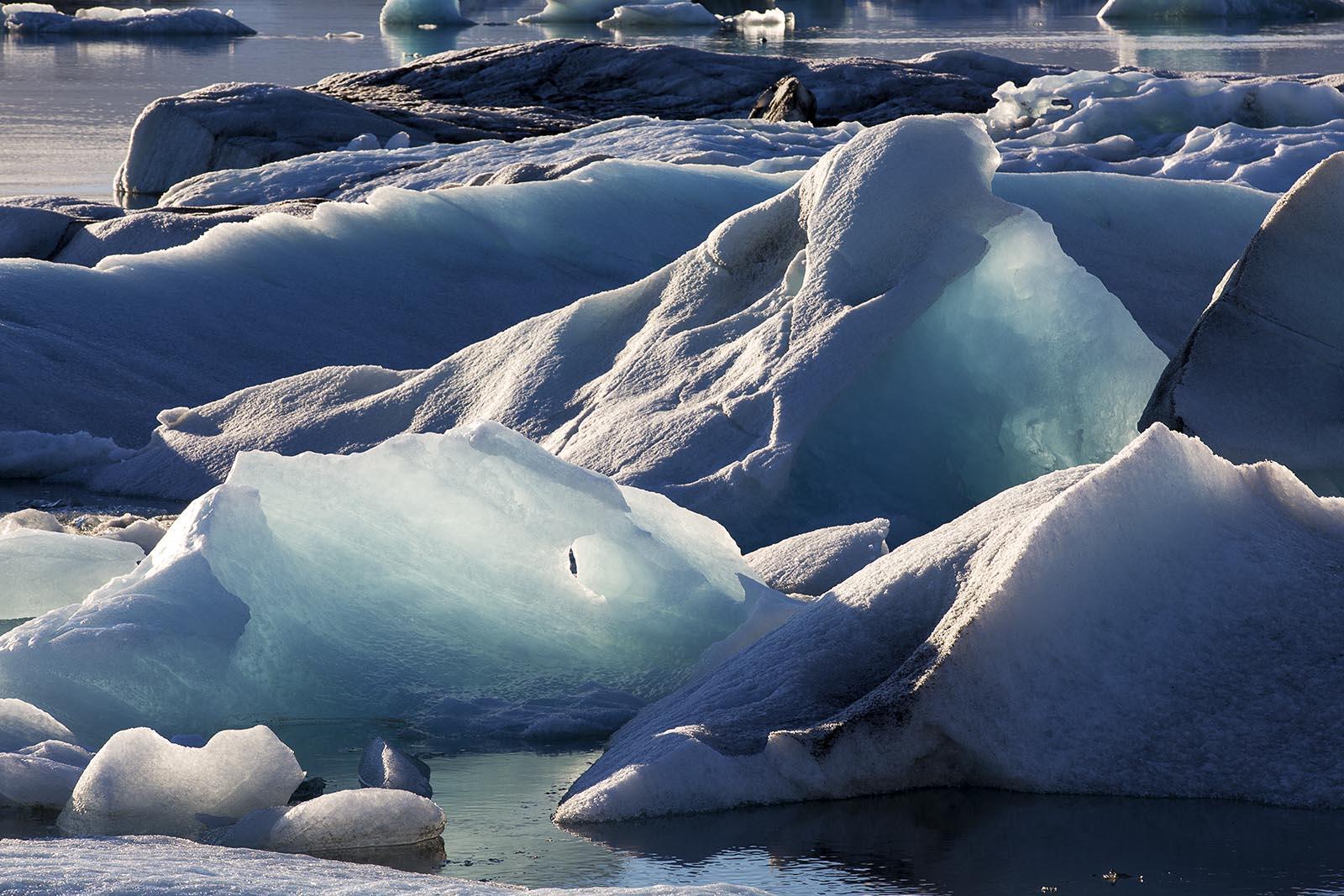 Gletscher Jökulsarlon im Abendlicht...