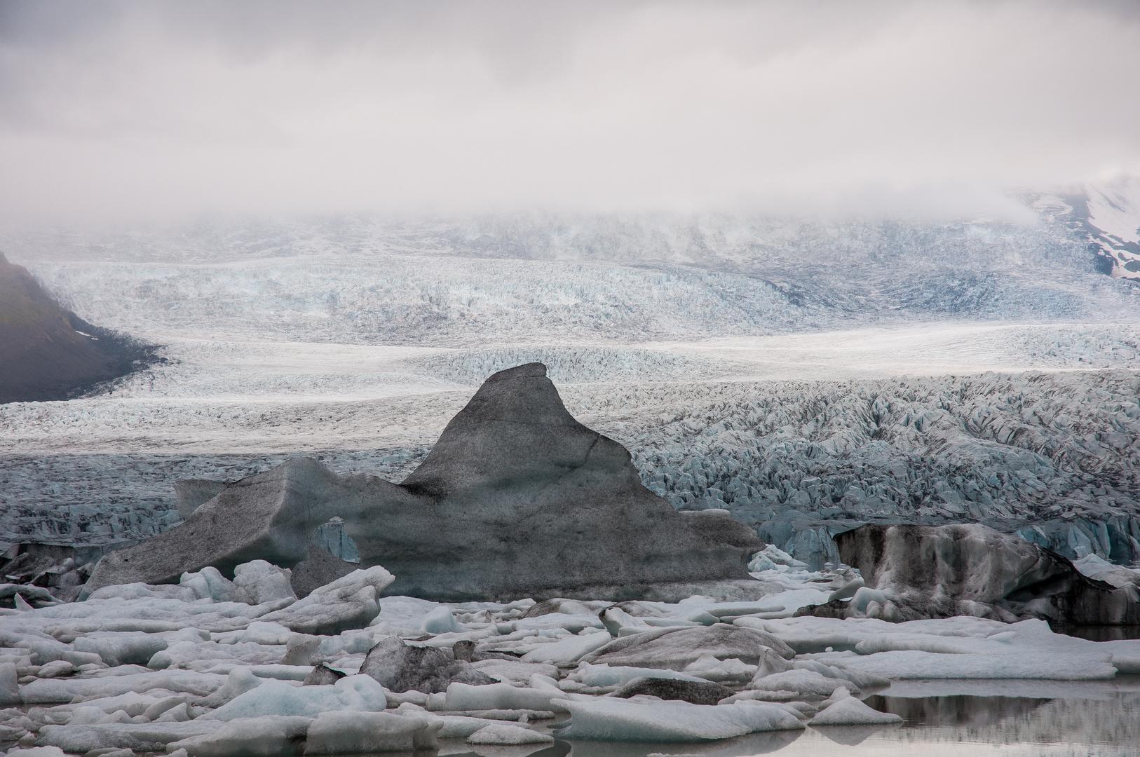 Gletscher Nebel