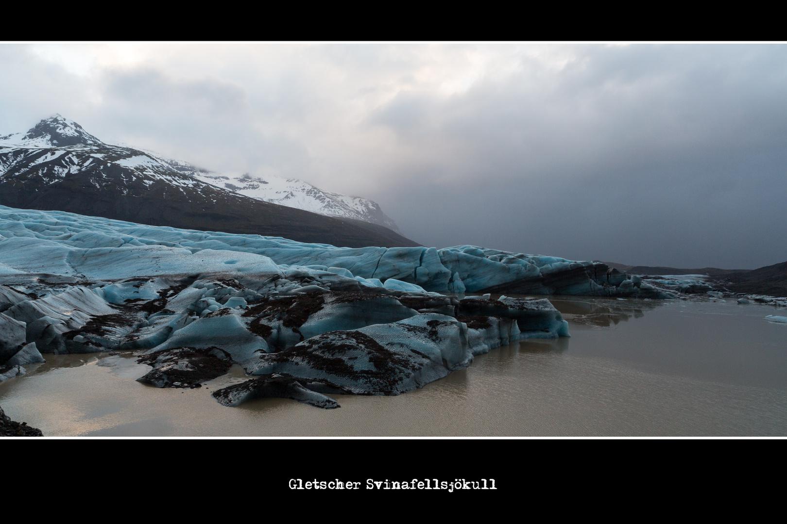 Gletscher Svinafellsjökull 2