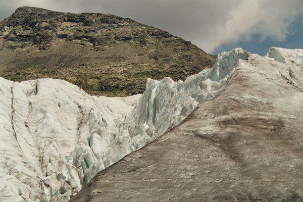 Gletscherabbruch am Persgletscher