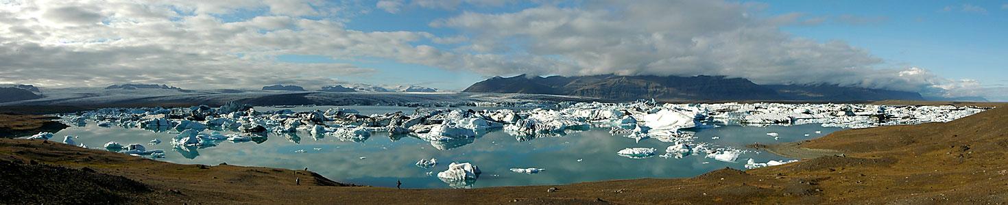 Gletscherlagune Jokulsarlon in Südisland