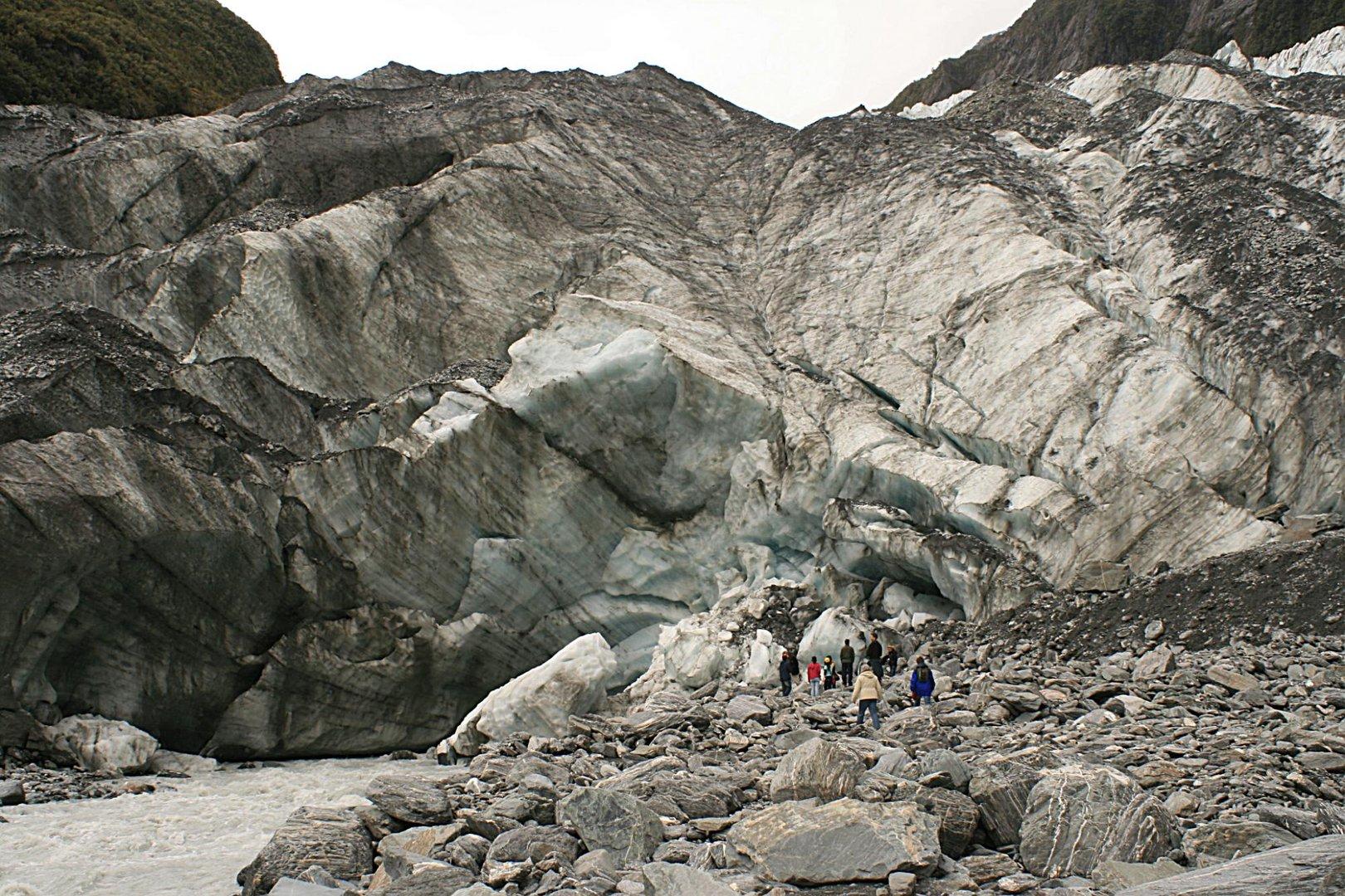 """Gletschertor des """"Franz-Josef-Glacier"""" in NZ - Südinsel"""