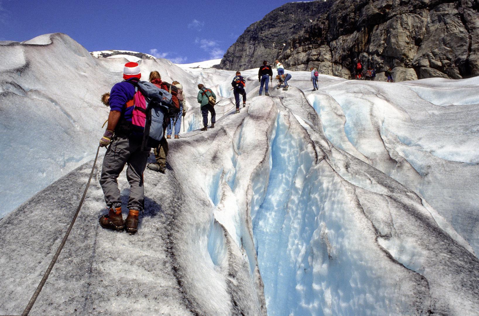 Gletscherwanderung auf dem Nigardsbreen, Norwegen