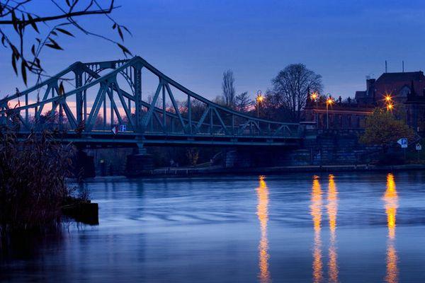 Glienicker Brücke in Richtung Potsdam