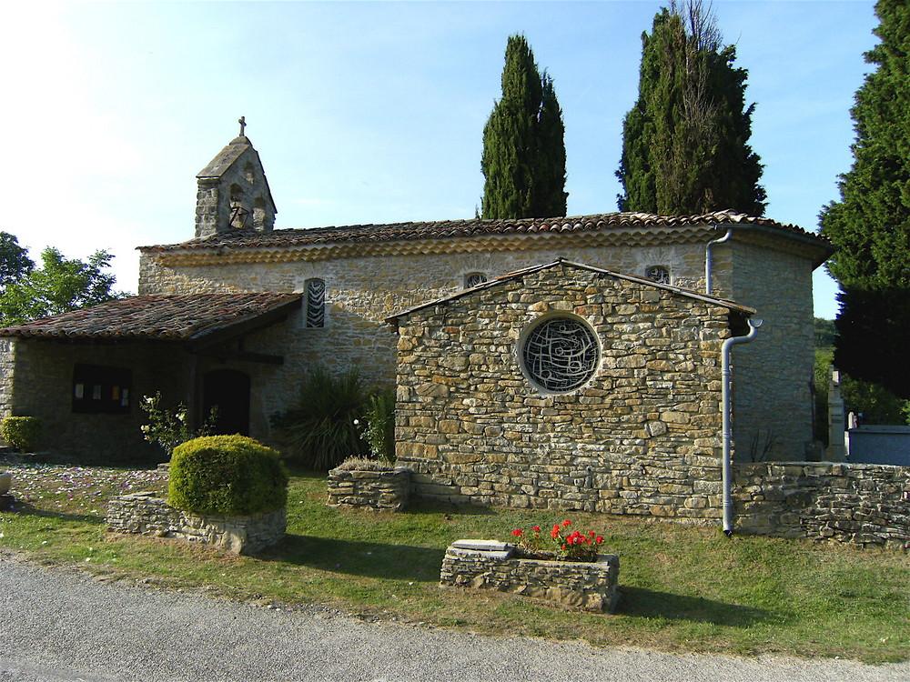 Église de Pradette ... Un petit bijou sorti des ruines par  la volonté de ses habitants
