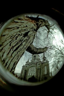 Église fisheye
