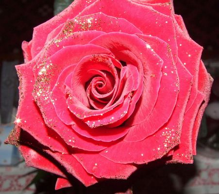 Glitzer-Rose