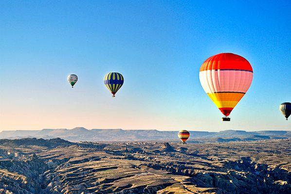 Globos en el cielo de Turquia