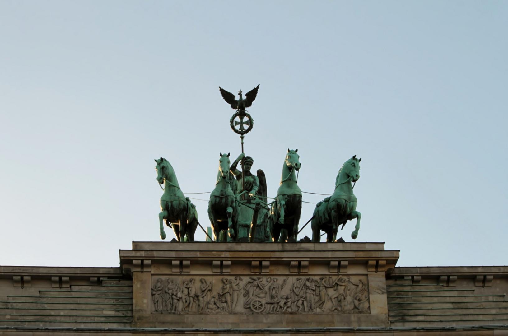 Gloriette auf dem Brandenburger Tor in Berlin