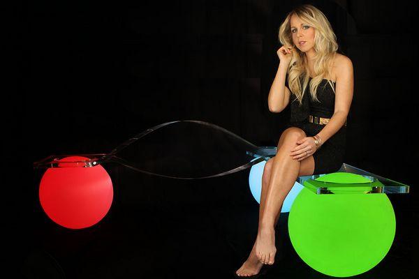 Glowing Light Ball Bench