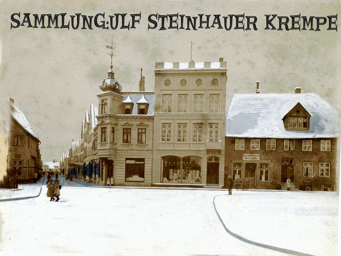 Glückstadt an der Elbe Markt ca 1900