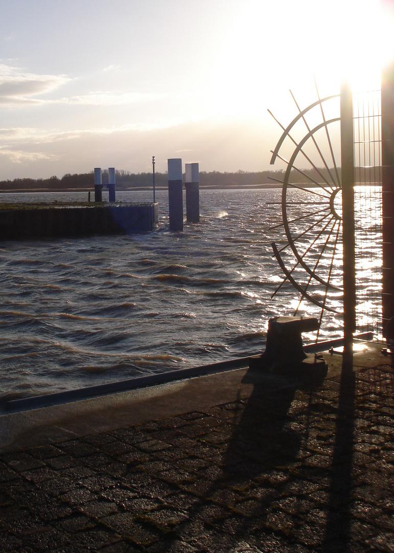 Glückstadt, Hafenkante