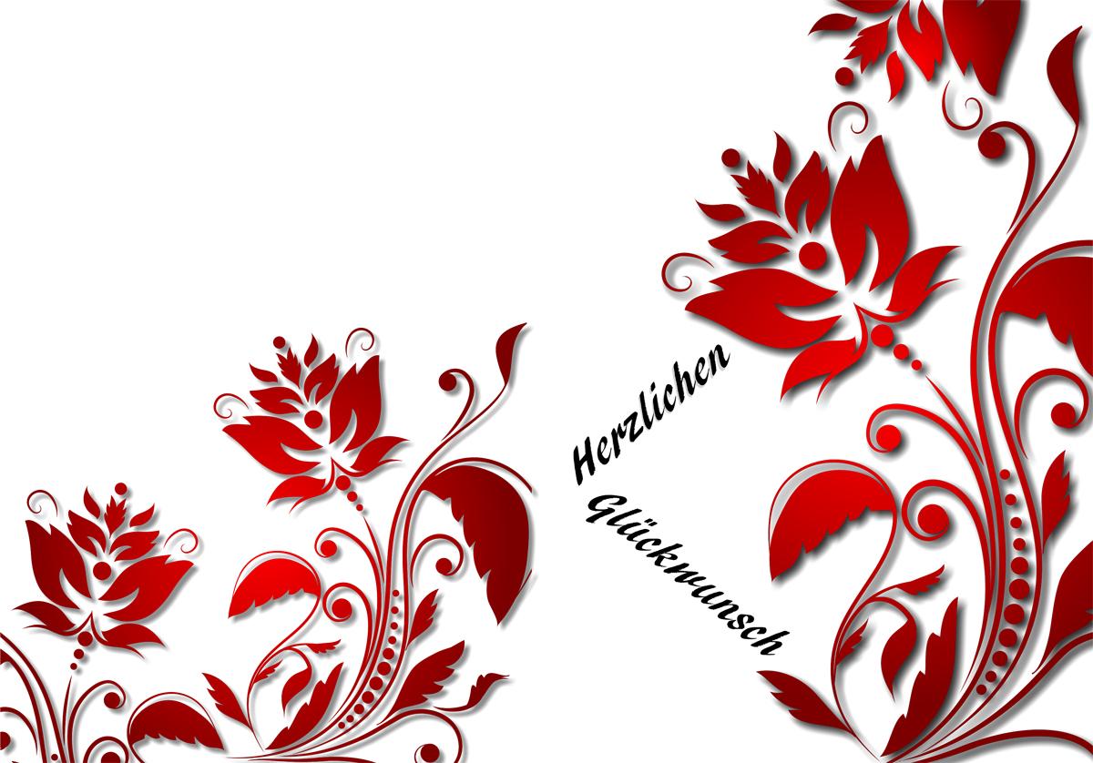 Glückwunsch in rot (aussen)