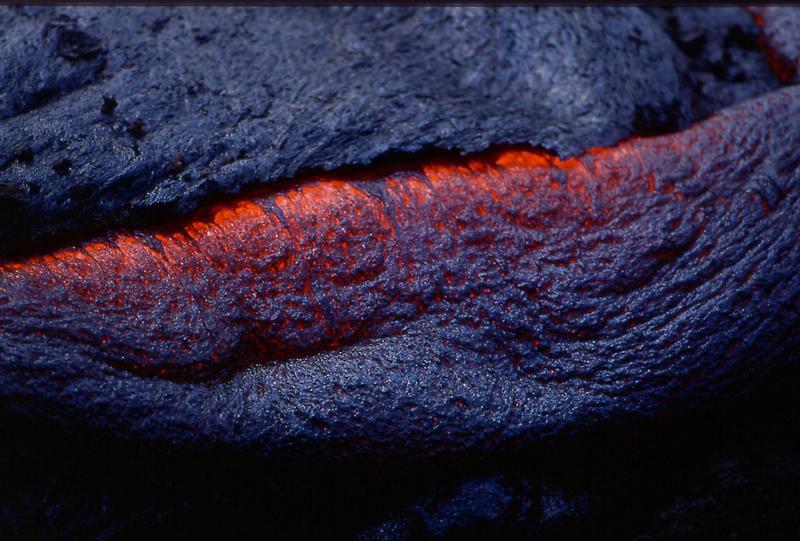glühende Lava